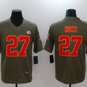 Men's Kansas City Chiefs #27 Kareem Hunt jersey
